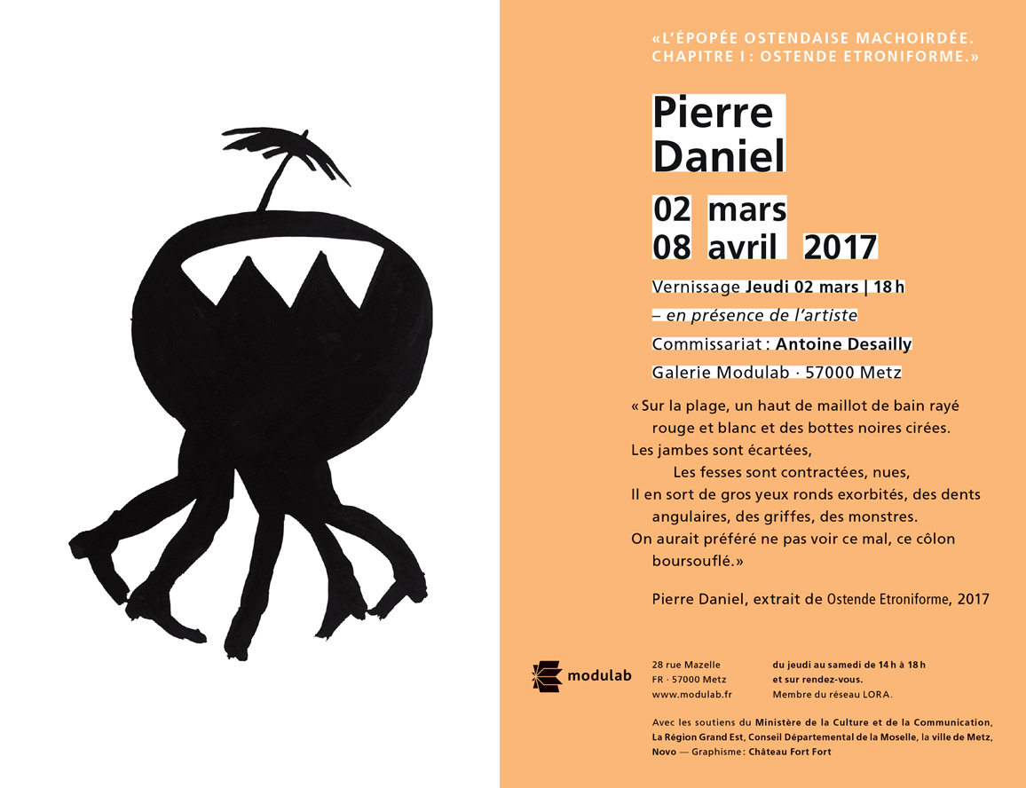 Flyer exposition Modulab Pierre Daniel
