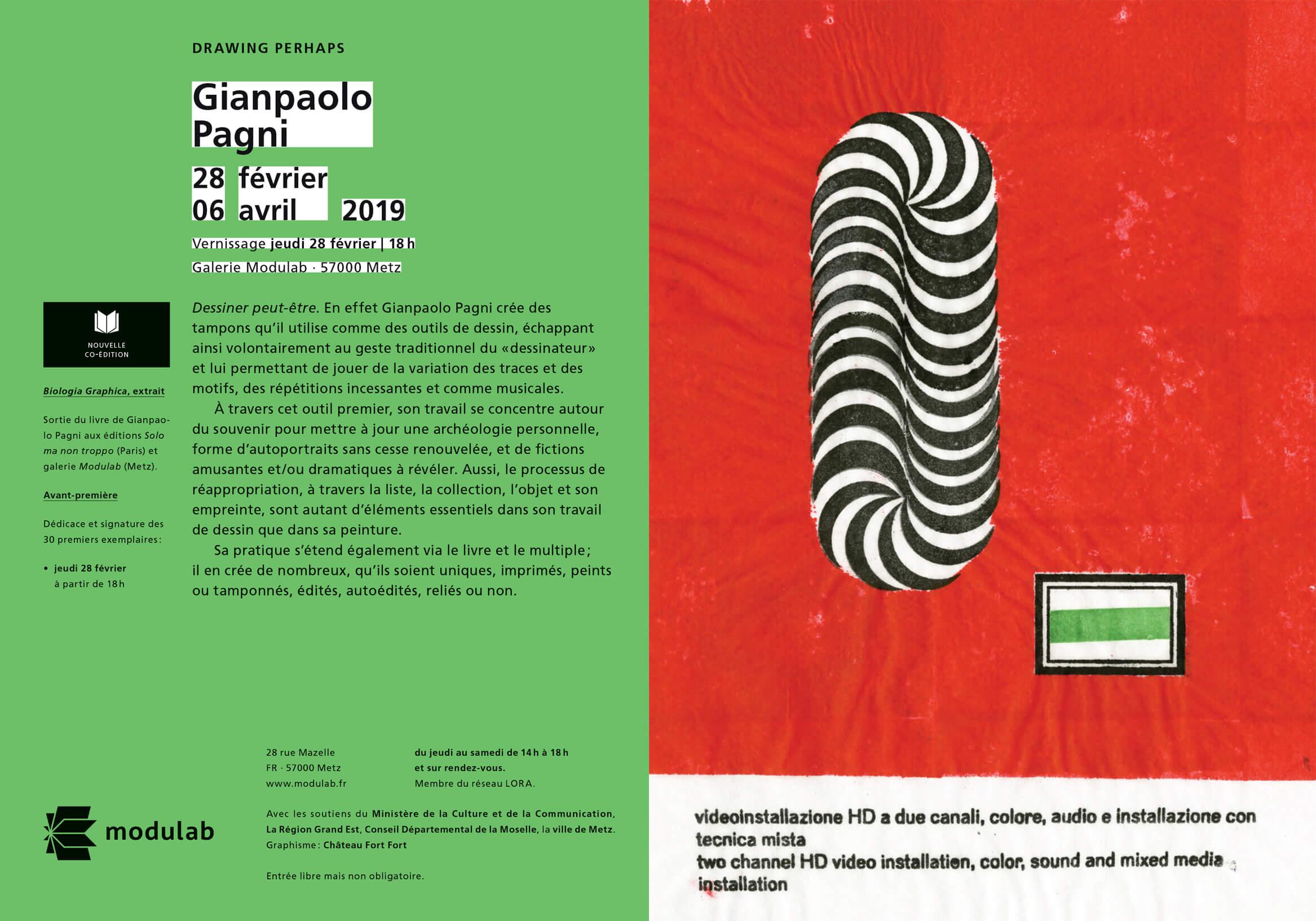 Flyer Modulab - Gianpaolo Pagni - Drawing Perhaps
