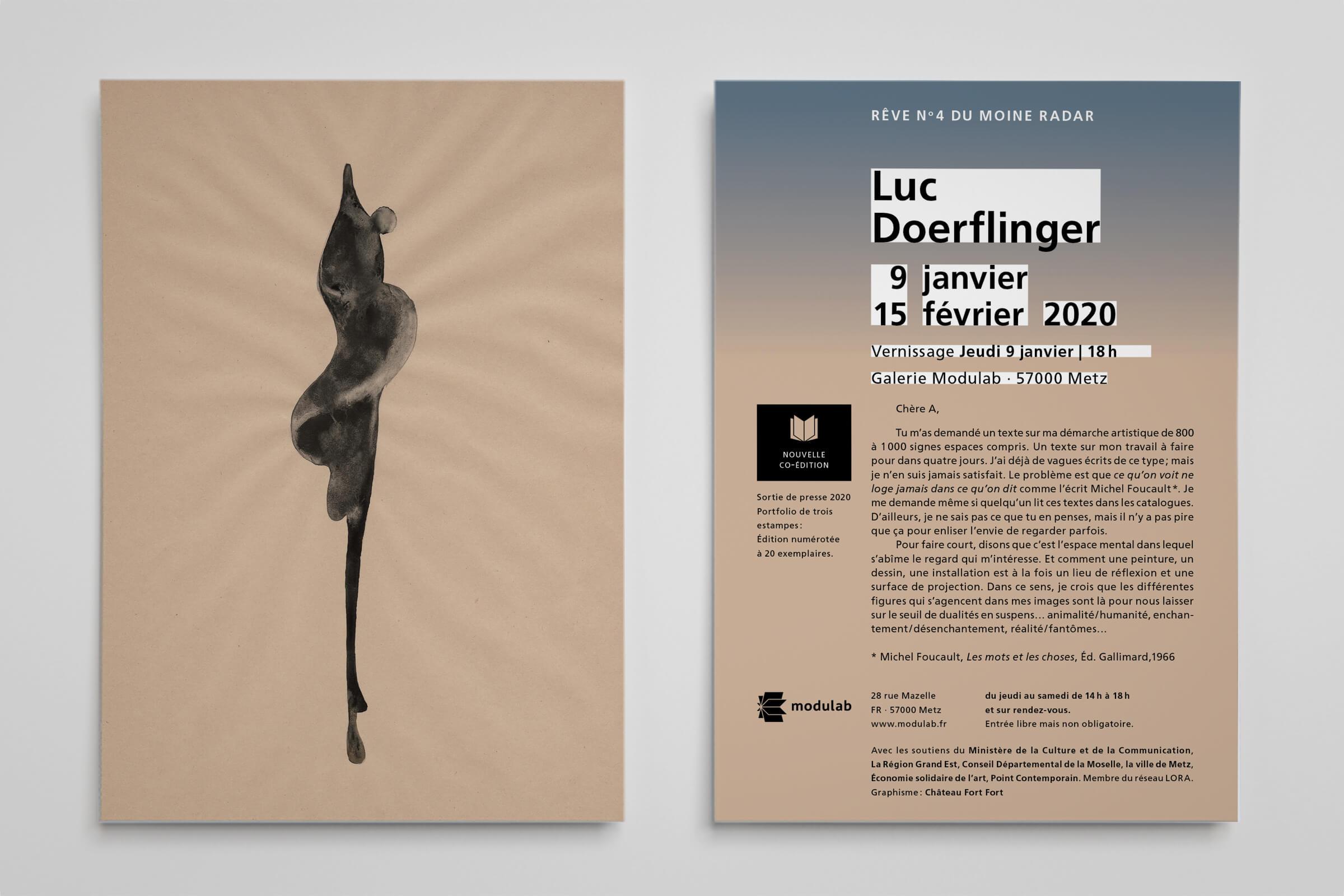 Flyer Modulab - Luc Doaerflinger - Rêve du n°4 du moine radar