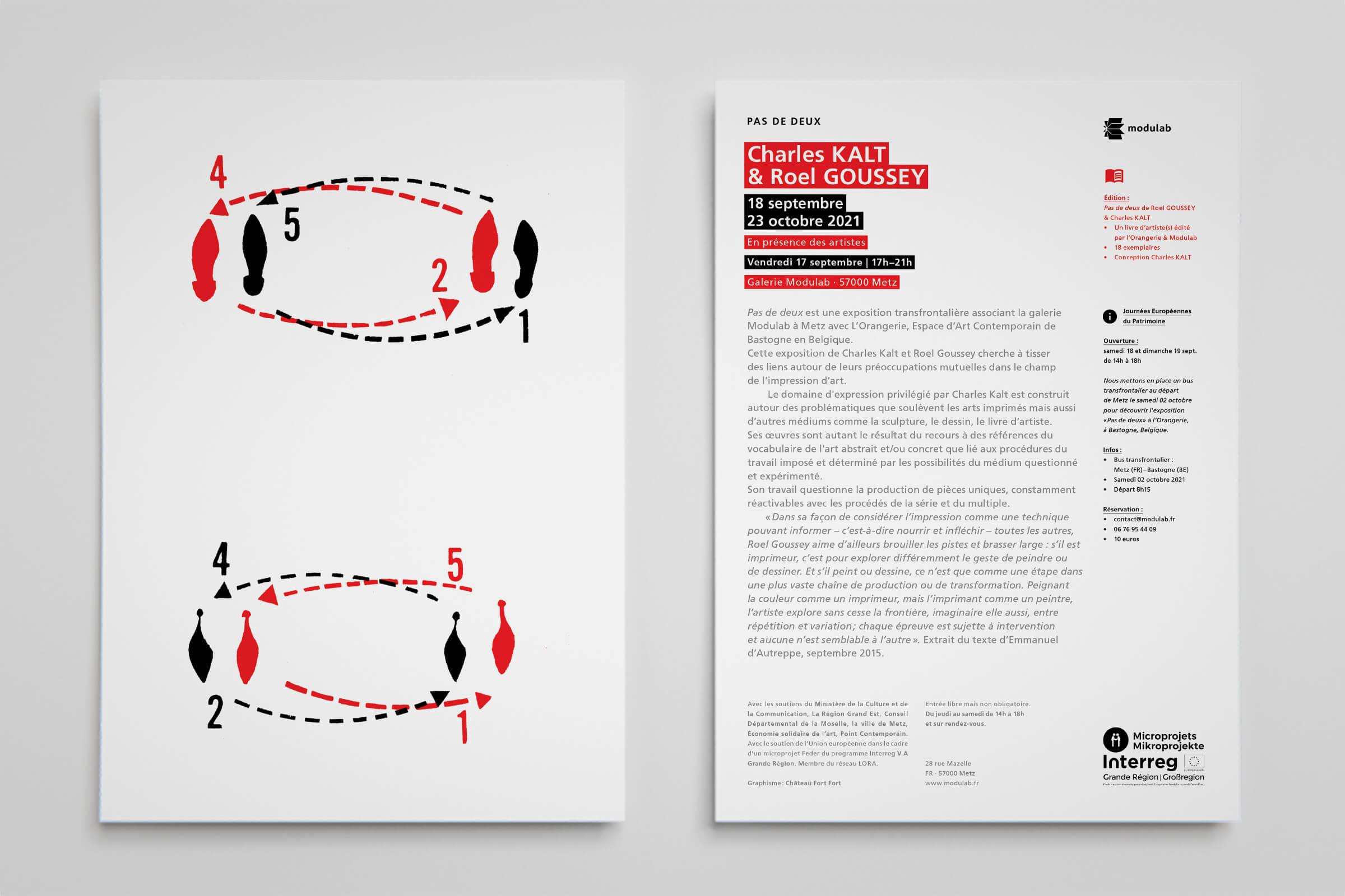 Flyer Modulab - Charles Kalt et Roel Goussey - Pas de deux